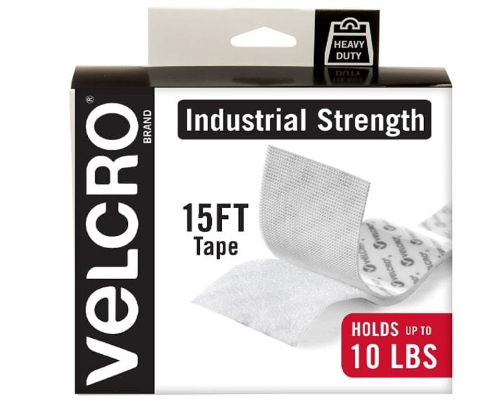 Industrial strength hoop and loop tape for hanging frames