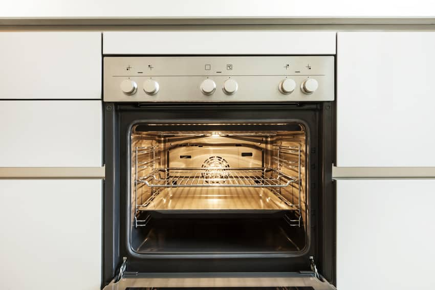 Inside view of a convection oven