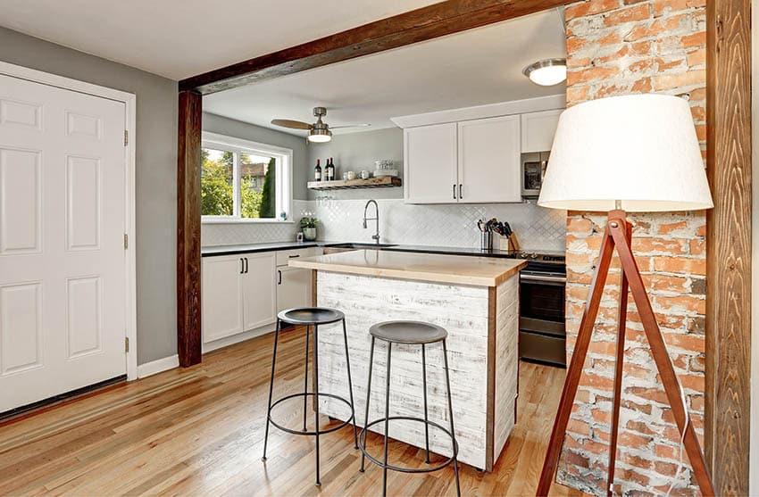 Kitchen with chalk paint island