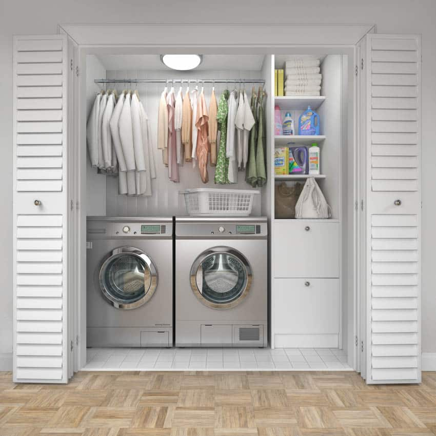 Laundry machines hanging clothes chute