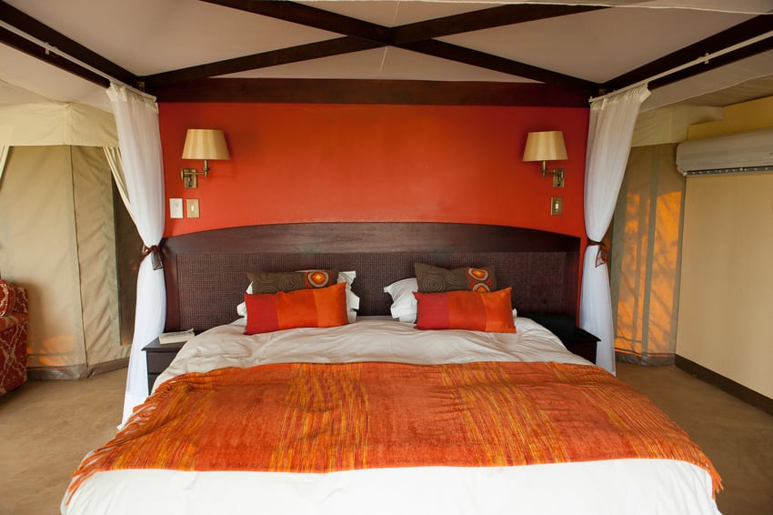Luxury safari style bedroom