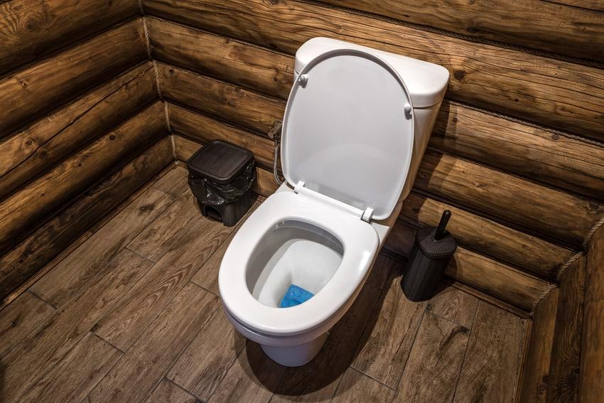 Modern luxury wooden bathroom interior