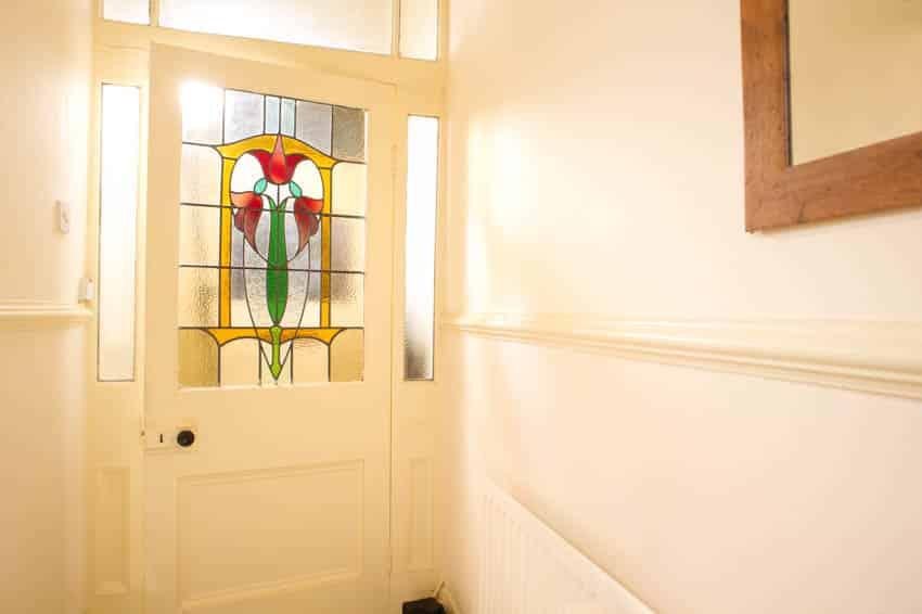 Mosaic glass door
