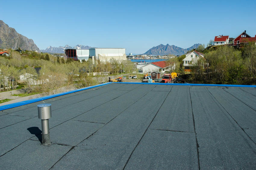 Peel and stick flat roofing