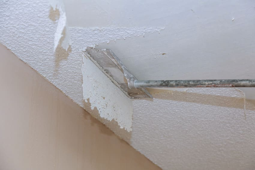 Popcorn ceiling removal for house renovation