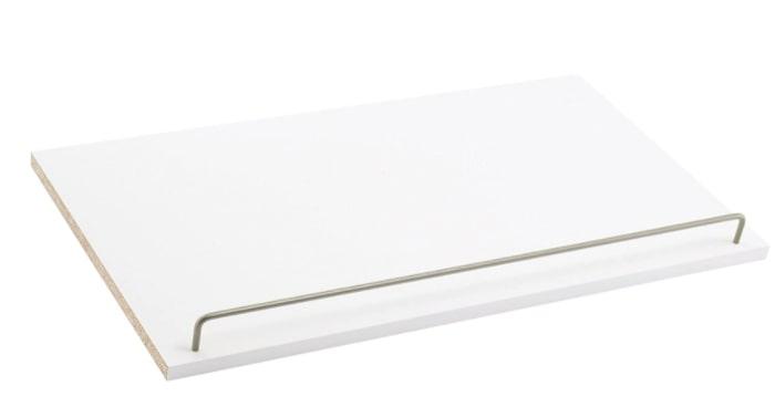 Pure white angled shoe shelf