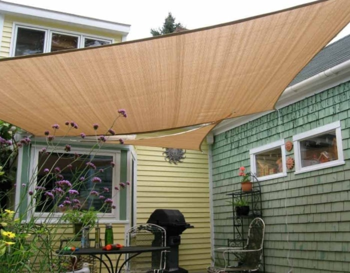 Rectangle shade sail for patio