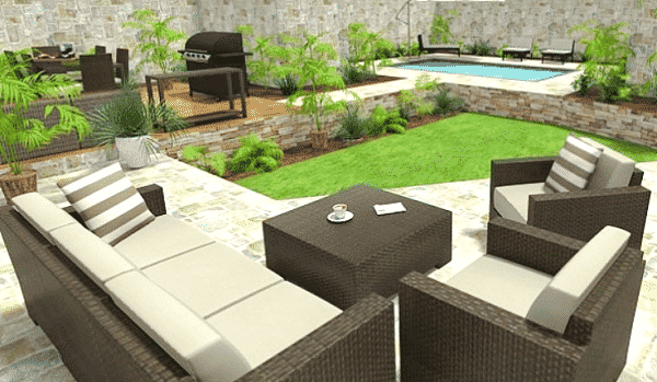 roomsketcher patio furniture layout