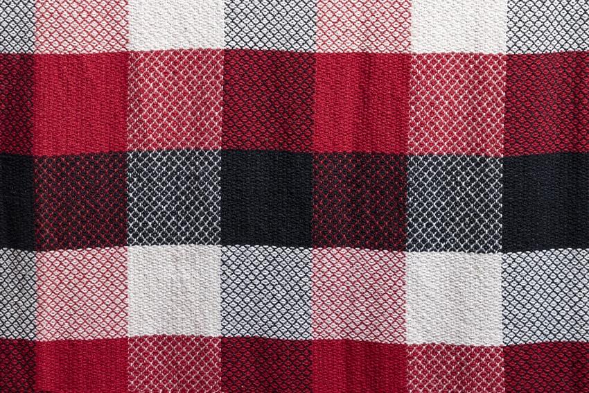 Sample texture of a plaid rug