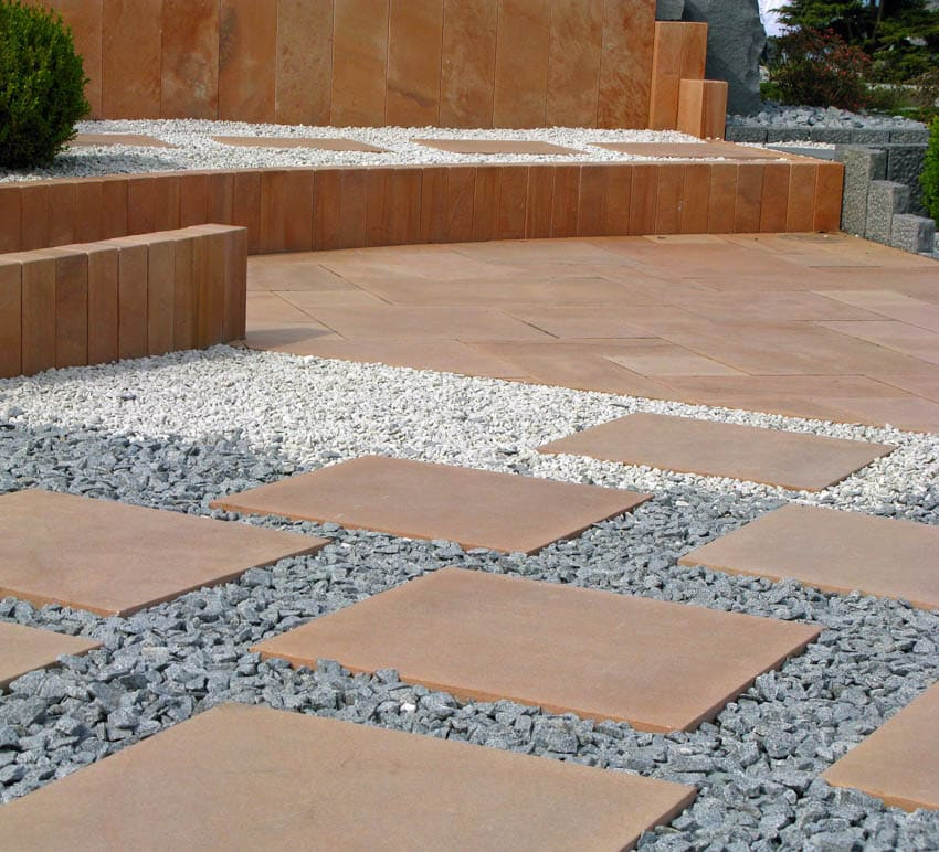 Slate chippings for patios