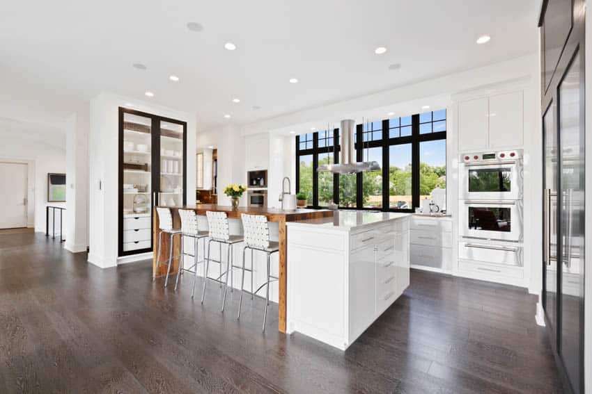 Spacious kitchen with center island for dining