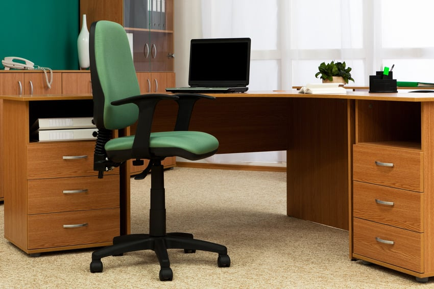 T-arm chair in a modern office