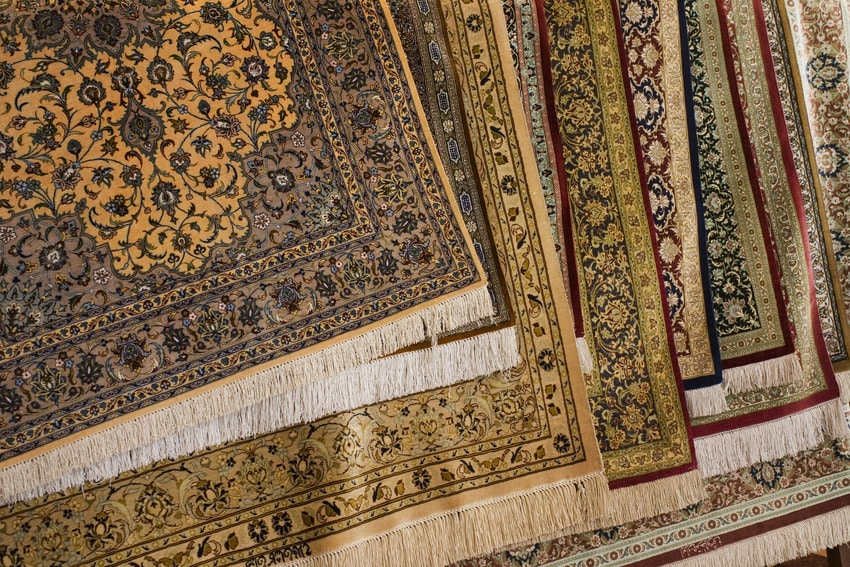 Various silk Persian carpet rugs