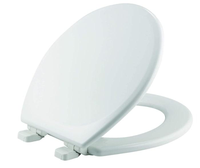 White round duroplast toilet seat