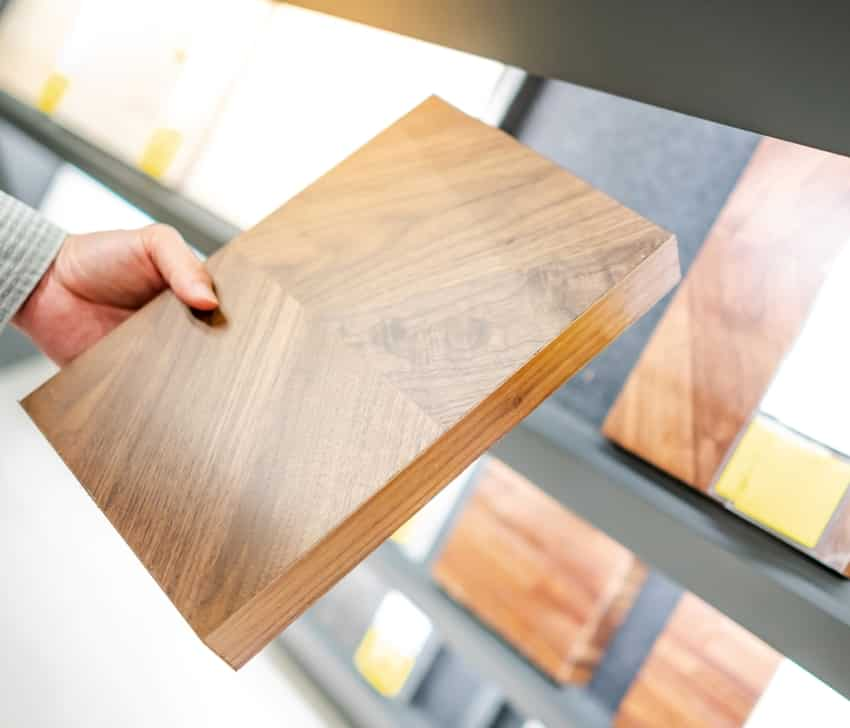 Wooden cabinet panel material