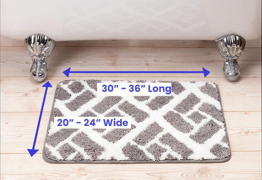 Bathroom rug dimensions