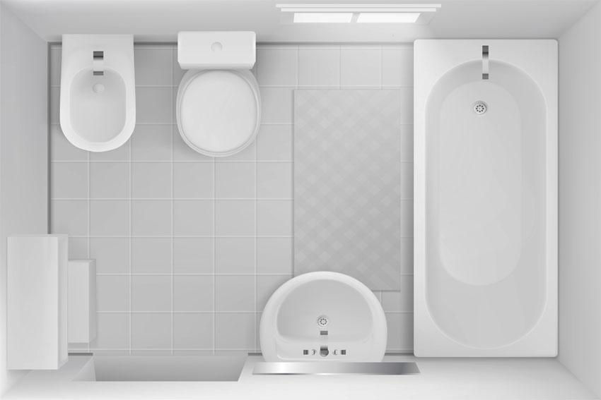 Full bath with bathtub layout