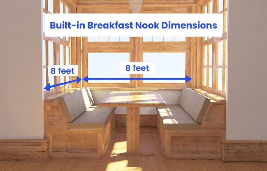 Built in breakfast nook dimanesions