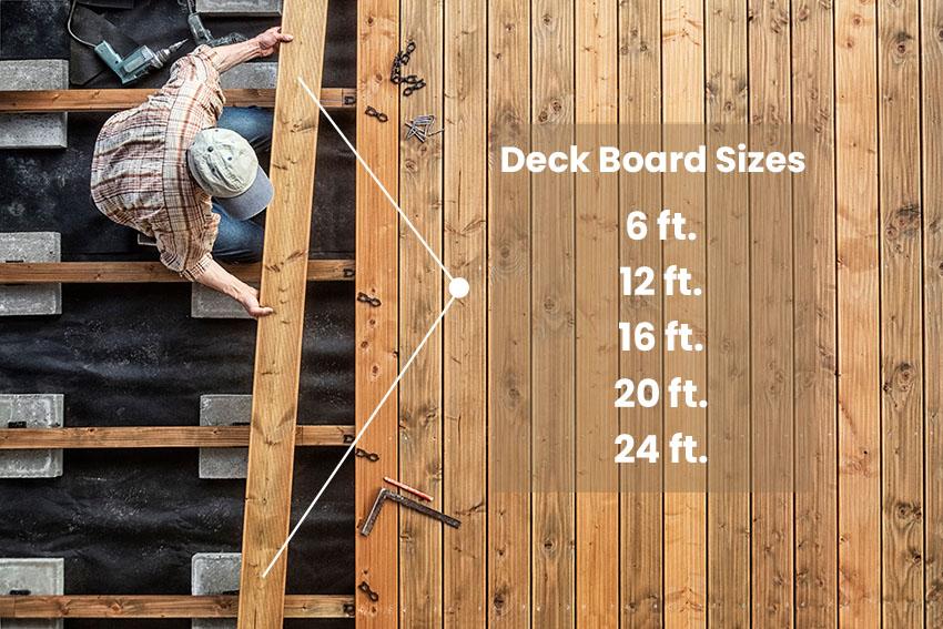 Deck board sizes