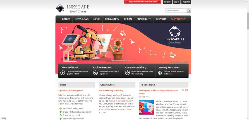Inkscape woodworking design software
