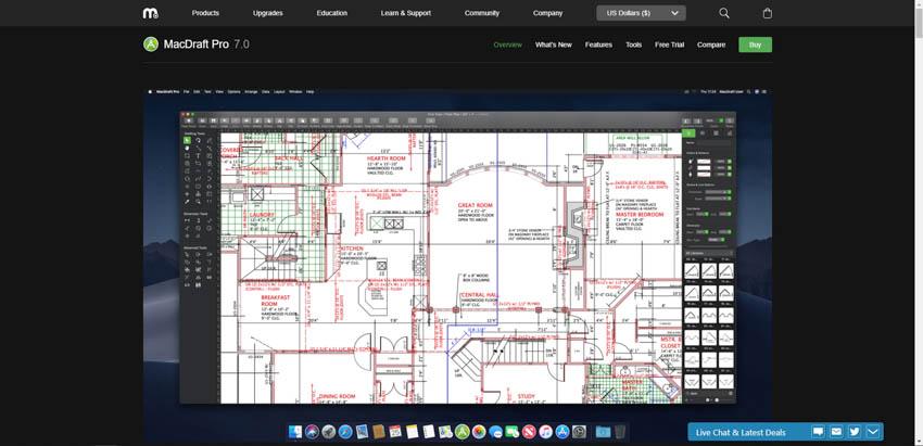 MacDraft Pro wood working design software