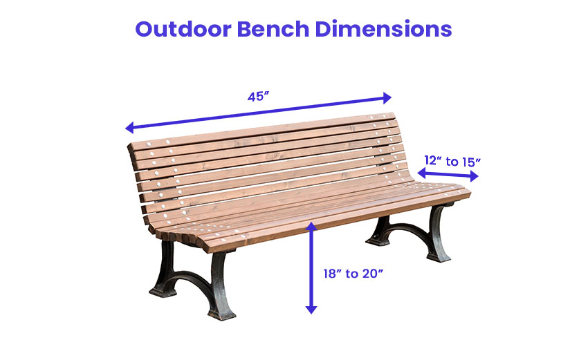 Outdoor bench dimensions