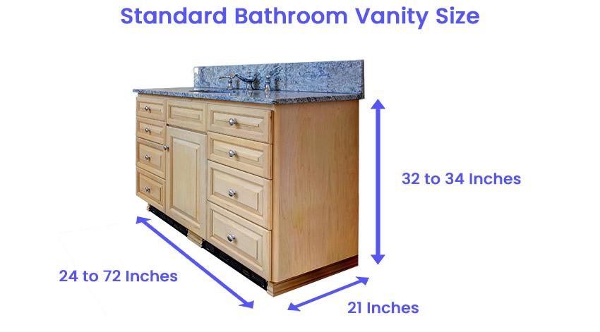 Standard bathroom vanity size dimensions is