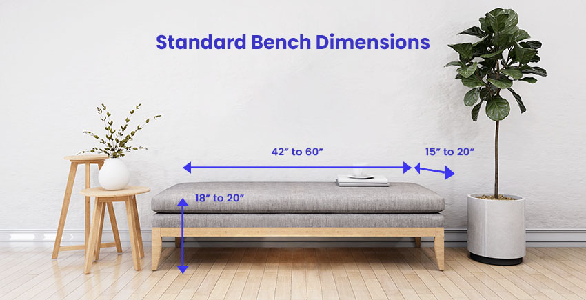 Standard bench dimensions