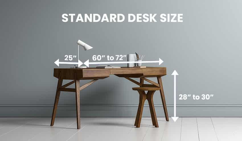 Standard desk size dimensions is