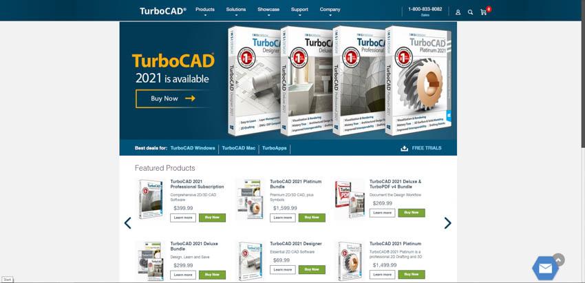 TurboCAD wood working design software