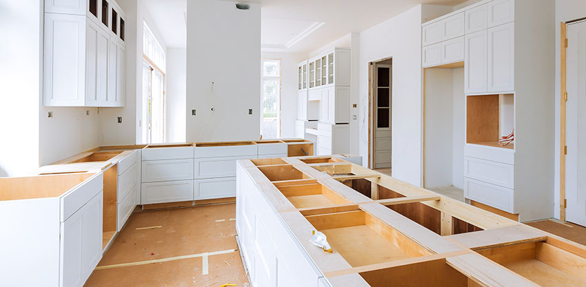 White kitchen cabinets replace countertop without replacing cabinets