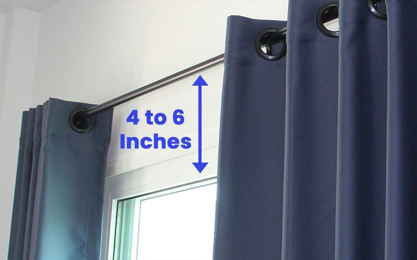 Window to curtain rod distance