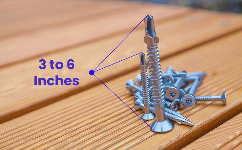 Wood screw size