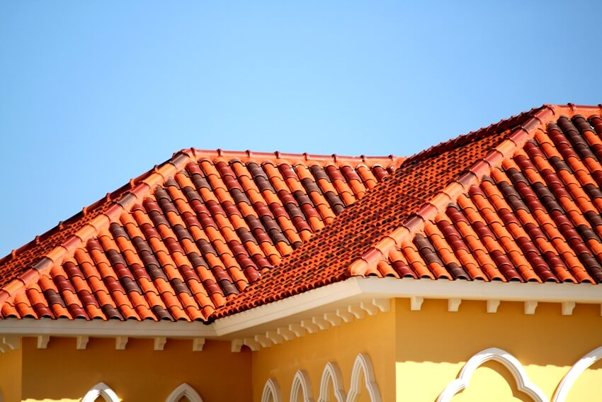 House with barrel tile roof