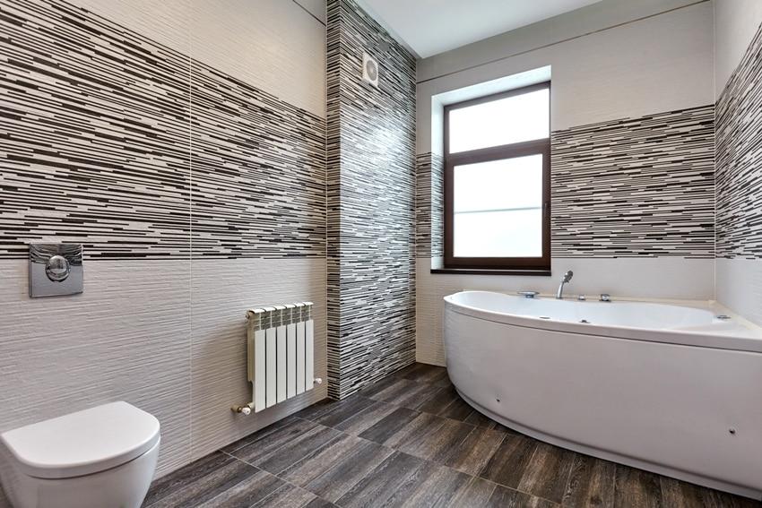 Beautiful fully tiled bathroom interior