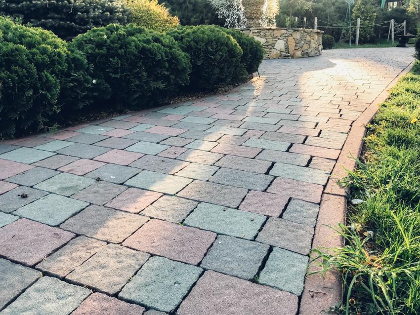 Brick walkway outdoor space