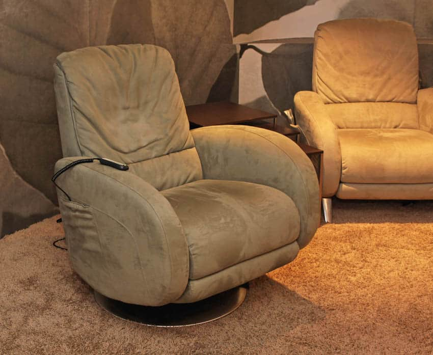 Brown fabric reclining chair