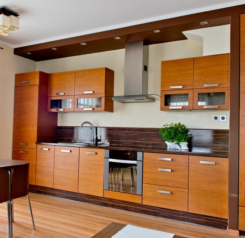 Brown kitchen interior