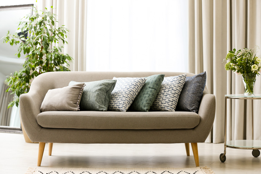 Classic sofa window curtains pillows