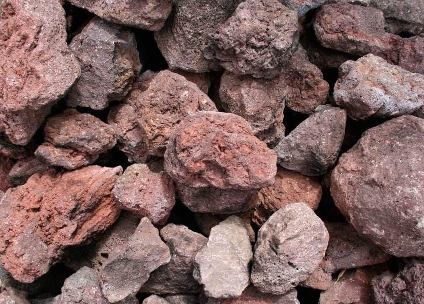 Close up of lava rocks