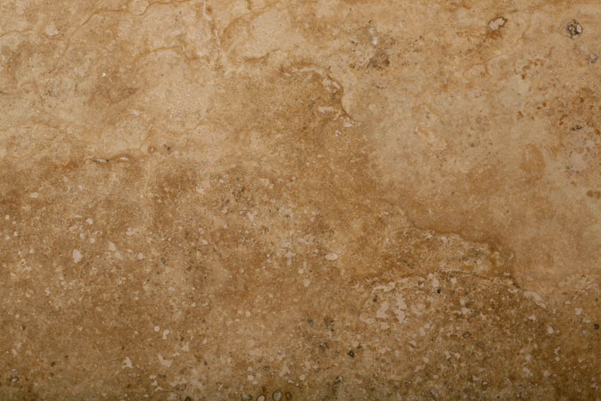 Close up travertine cross cut surface