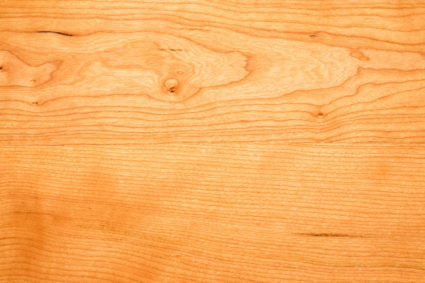 Closeup of light cherry wood grain