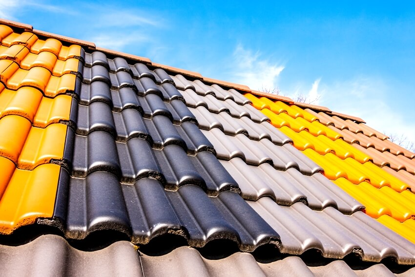 Colorful roof tile