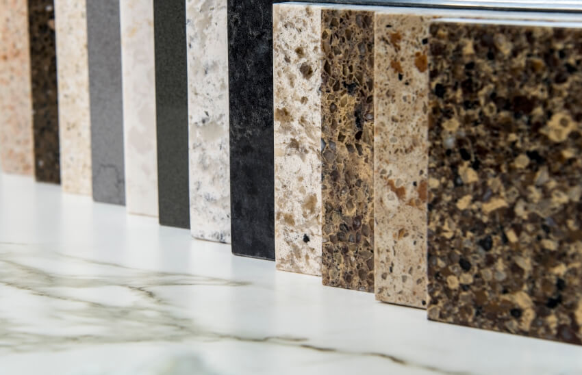 Colorful square color sample designs of kitchen marble tiles