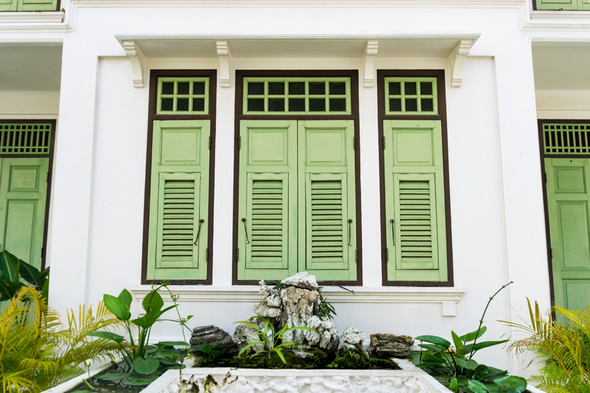Combination shutters house exterior