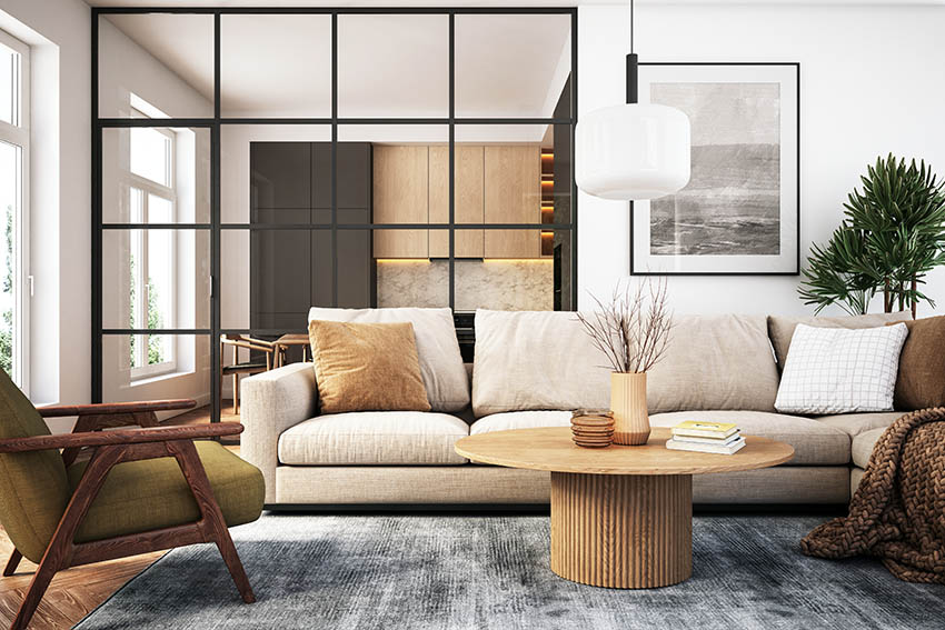 Contemporary decorated living room