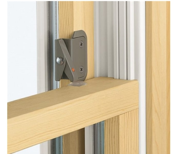 Double hung window opening control device