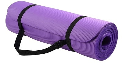 Extra thick high density anti tear exercise yoga mat with carrying strap