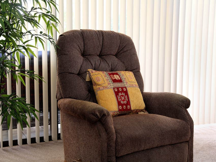 Fabric material for recliner chairs window blinds