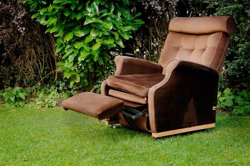 Fabric recliner backyard
